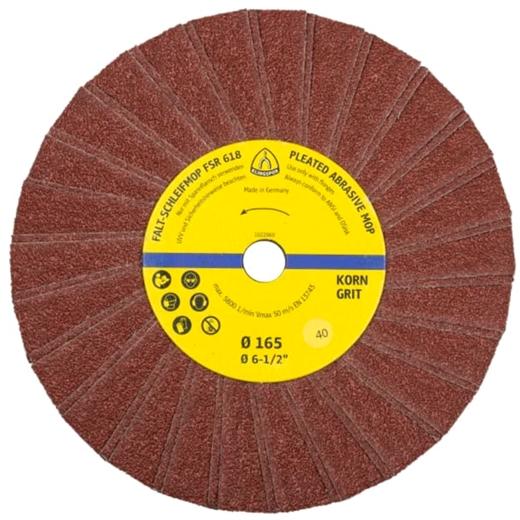Bánh nhám xếp Klingspor FSR618 nhôm oxit 165 x 14MM
