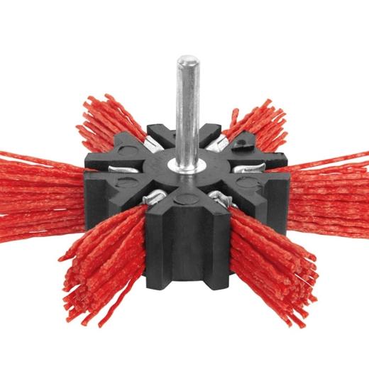 Bánh cước sợi nylon đỏ nhìn xuyên 100mm