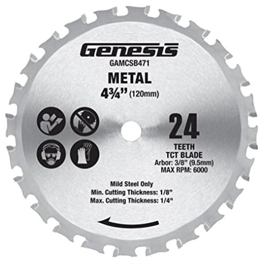 """Lưỡi cưa đĩa bào nhôm Genesis GAMCSB471 4 3/4"""" 24-răng"""