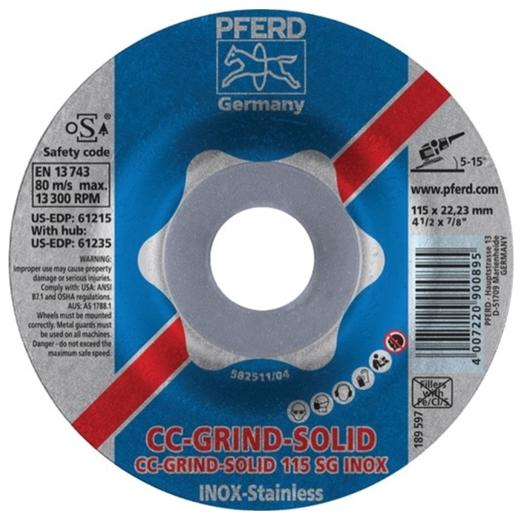Đá cắt PFERD CC-GRIND-SOLID SG INOX
