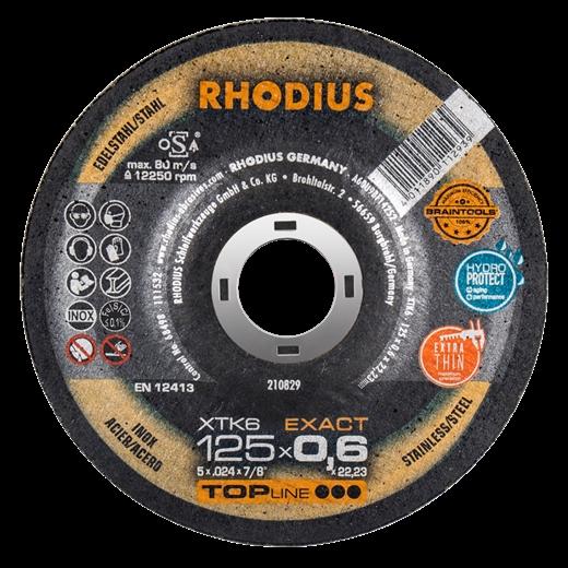 Đá cắt Rhodius siêu mỏng XTK6 126 x 0.6 x 22.23